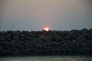 Solnedgång över brakewater