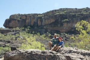 gustaf & Olof i Nourlangie Rock